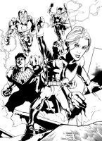 Young Avengers Practice Ink by egorger