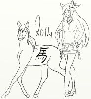 Year of the Horse (WIP) by RunaFire