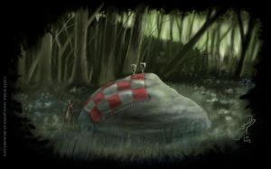 Picnic stone by Griatch-art