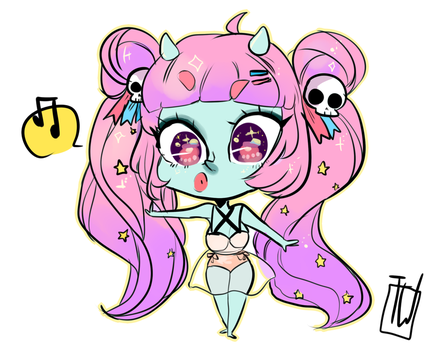 Starry 10 Usd Chibi Comm by temporaryWizard