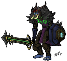 Warcraft Troll Warrior - Darrendorf by EdMoffatt