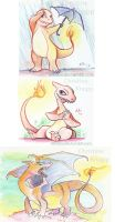 pokemonathon Charmander fam by kiki-doodle