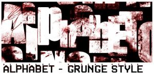 Grunge Alphabet by ardcor