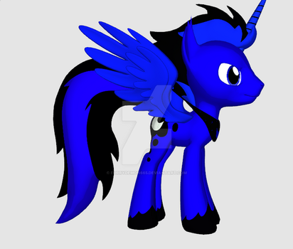 Blue moon the Son of Luna moon by FurryDemon665