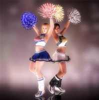 Tina and Lisa - D.W.A Cheerleaders - 01 by HentaiAhegaoLover