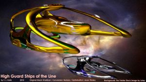 High Guard Ships of the Line by archangel72367