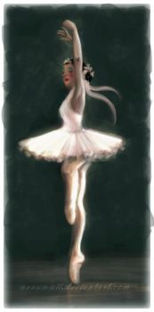 female ballet dancer by azzumail