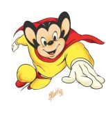 Mighty Mouse by atzalan