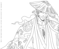 Kyouraku lineart 2 by synyster-gates-A7X