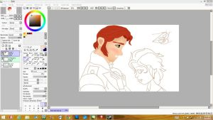 Hans And Elsa Wip by VoyagetoDiscover2013