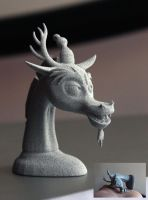Discord Bust - Aluminide 3d Print by herpderpyhooves