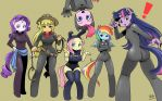Mane 6 in spy suit by shepherd0821