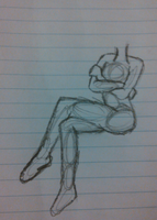 Pose Sketch by SNlCKERS