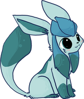 Chibi Glaceon by AppleDew