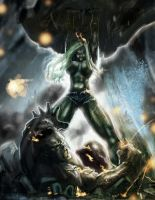 She-Hulk vs. Hulk by devowankenobi