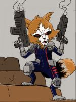 3DS doodle: Rocket Raccoon by beamer
