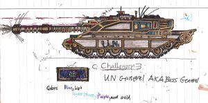 General Stimpson's Challenger Mk.III (Mk.3) Tank by Lord-DracoDraconis