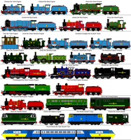 North Western Railway Engines (My Universe) by RiverStationStudios