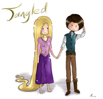 Eugene and Rapunzel AT by BlumberBerrry