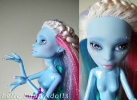 monster high abbey repaint 2 by hellohappycrafts