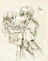 Kenshin Himura and His Love by pawnqueen
