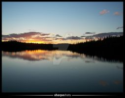 sunset at mike's pond 02 by Sharpeshots