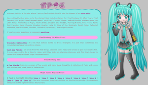 Epic a fanfic site layout by MikariStar