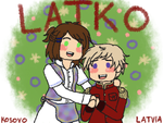 [APH] LatKo cuties [see description!] by melonstyle