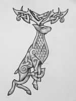 Celtic Stag by Tattoo-Design