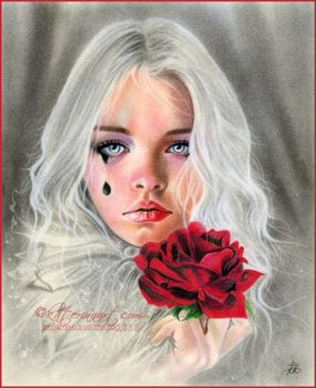 Crimson and Clover by Katerina-Art