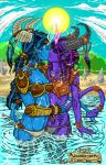 WOW Draenei Beach Party by wisahkecahk