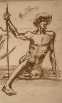 Life Drawing - Male 1 by GlendonMellow