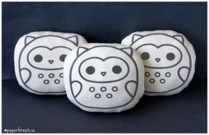 Owl Pillow Plushies by littlepaperforest