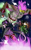 Character fusion: Squigly and Jotaro Kujo  by GrimmlyHollows