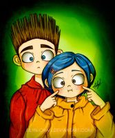 Norman and Coraline by Eilyn-Chan