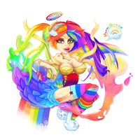 Sexy Rainbow Puke by elks4elb