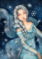 Frozen Elsa by maxicarry