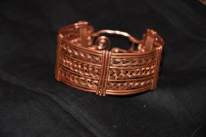 Three Weave Copper Cuff by claire109