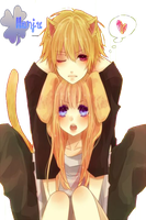 Cute neko Couple by Hinamori6457