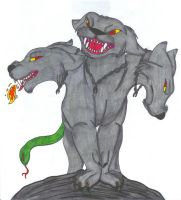 Cerberus, Demon of the Pit by DogSong