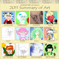 2011 Summary of Art by MU-Cheer-Girl
