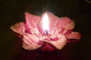Dusty Christmas candle by otherunicorn-stock