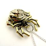 Vintage Watch Spider Pendant by SteamSect