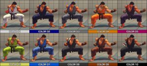 Ryu Colour Pack - SF4 mod by Jiggeh