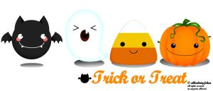 Trick or Treat vectors by Greencherryplum