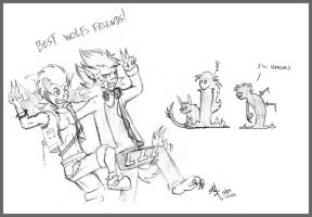 Best Wolfs Friends by Steff-Magalhaes