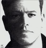 Matt Damon - Bourne Ultimatum by Rick-Kills-Pencils