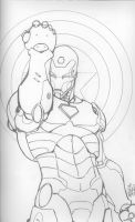 Iron Man by Michael Turner - Lineart by DenbroughMcClane