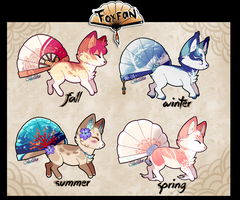 Seasonal Foxfan Auction// CLOSED by Belliko-art