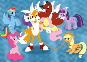 Request: Tails with Ponies by white-tigress-12158